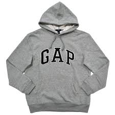 gap hoodie mens pullover sweatshirt fleece lined applique arch