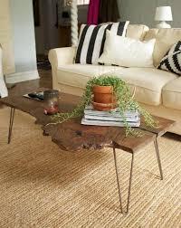 wood slab coffee table diy simple diy natural one piece wood slab coffee table with 4 steel