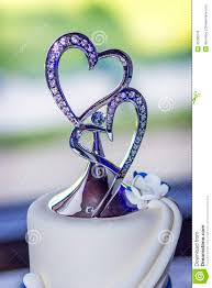 heart wedding cake toppers wedding cake with heart topper stock photo image of heart