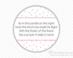 baby shower candle favors baby shower candle etsy