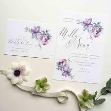 ethereal personalised wedding invitation u2013 stunning floral