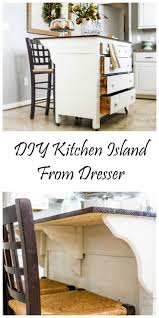 Kitchen Island Makeover Best 25 Dresser Kitchen Island Ideas On Pinterest Diy Old