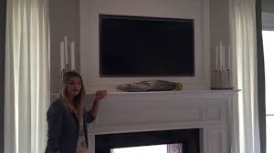 tv over the fireplace youtube