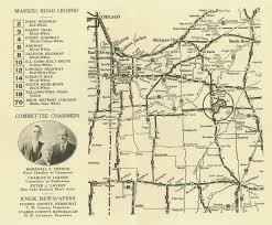 Indiana Road Map Starke County Historical Photos