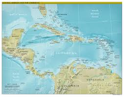 Map Caribbean by Political Map Of Central America And The Caribbean In Map Central