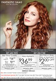 weekday specials fantastic sams cut and color northfield mn