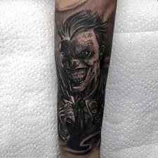90 joker tattoos for men iconic villain design ideas