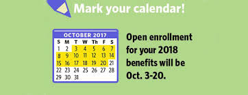 save the date open enrollment for 2018 benefits is coming soon er