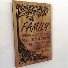 wooden wall carved family tree sign fathers day gift ideas