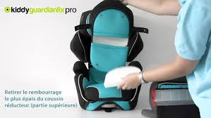 siege guardianfix pro 2 kiddy guardianfix pro retrait du rembourrage du coussin réducteur
