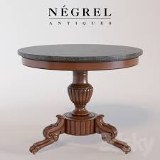 marble top pedestal table 3d models table french napoleon iii marble top pedestal table
