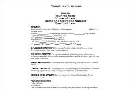 sample personal information in resume sample social resume sample