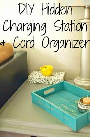 Build Your Own Charging Station Diy Charging Station U0026 Cord Organizer Old House To New Home