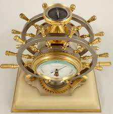 Nautical Desk Clock Antique French Industrial Nautical Desk Clock Ian Burton Antique