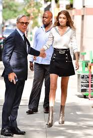 Nautical Theme Fashion - gigi hadid steps out with tommy hilfiger in nautical themed