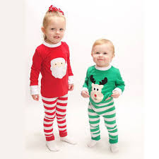santa moose boys matching striped