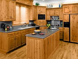 furniture large rustic kitchen with l shaped brown pine kitchen