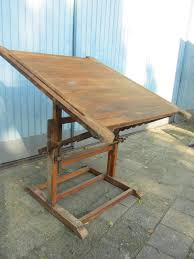 Wood Drafting Table Industrial Drafting Table 1900s For Sale At Pamono
