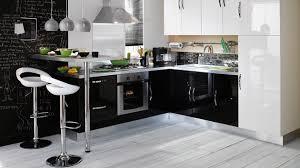 cuisine noir et cuisine grise et jaune noir blanc blanche gris newsindo co