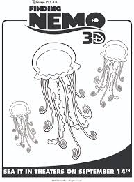 finding nemo u0027s jellyfish free printable coloring pages