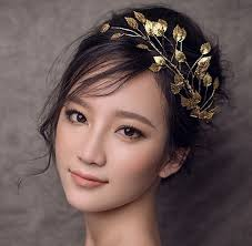 bridal headdress handmade metal leaf bendable forehead decoration
