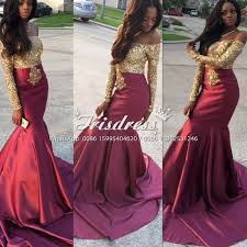 Black And Gold Lace Prom Dress Wholesale Burgundy Gold Mermaid Prom Dresses With Gold Lace