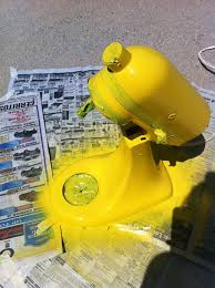 Yellow Kitchen Aid - how to paint your kitchen aid mixer little bits of