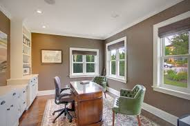 sherwin williams tavern taupe home office traditional with green