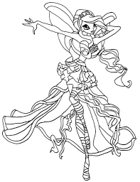 winx club coloring pages stella harmonix coloringstar