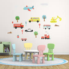 wall stickers uk wall art stickers kitchen wall stickers ws5040 nursery city transports