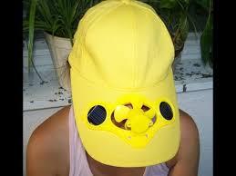 hat with fan built in solar power hat cap with fan by gh youtube