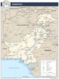 Map Of Pakistan And India by Pakistan U2014 Central Intelligence Agency