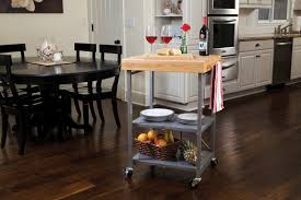 Folding Kitchen Cart by Wooden Butcher Block Kitchen Cart Design Ideas And Decor