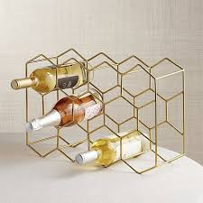 11 bottle gold wine rack crate and barrel