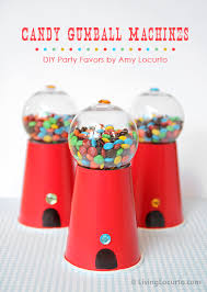 gumball party favors candy gumball machine party favor craft idea