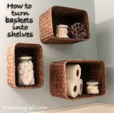 bathroom wall shelf ideas amazing bathroom wall storage baskets best 25 basket bathroom