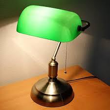 le de bureau opaline verte le de banquier verre opaline 38 cm chaînette amazon fr
