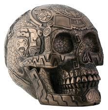 amazon com bronze aztec skull with engraving home u0026 kitchen