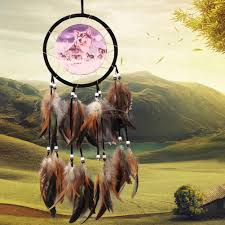 details about wolf handmade dream catcher with feathers car home