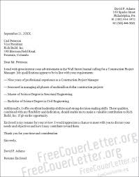 sample construction cover letter