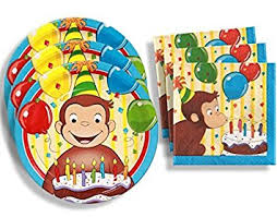curious george birthday party curious george birthday party supplies set large plates