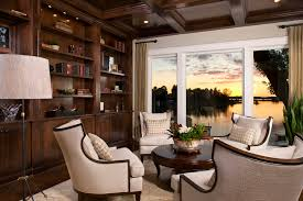 Coffered Ceiling Lighting by Curtain Rod For Family Room Traditional With Recessed Lighting
