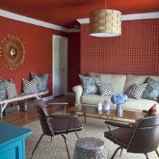 red eclectic living room photos hgtv