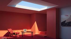 artificial windows for basement coelux s fake skylight realistically mimics the summer sun for