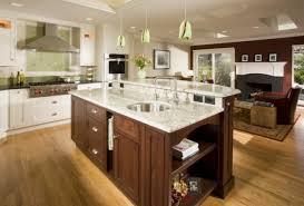 hotte cuisine ouverte cuisine ouverte avec ilot c3 aelot central bar plans marbre blanc