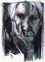 "A pastel drawing of Carl Sandburg by a student from nox College for the ""Sandburg Days Festival"""