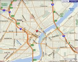 toledo ohio map map