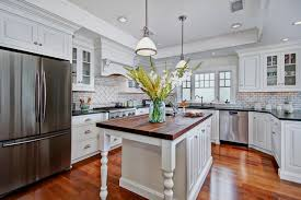 Kitchen View Custom Cabinets View In Gallery Painted Cabinets Give The Roomsnuw Warmth With