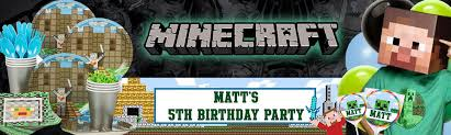 minecraft party supplies minecraft party supplies decorations birthday in a box