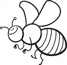 cartoon bee coloring vector illustration igor zakowski